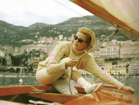 Grace Kelly enjoying a sail