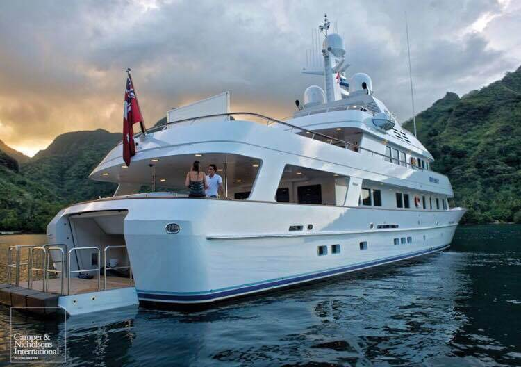 One of the two yachts, Tahlia has worked on